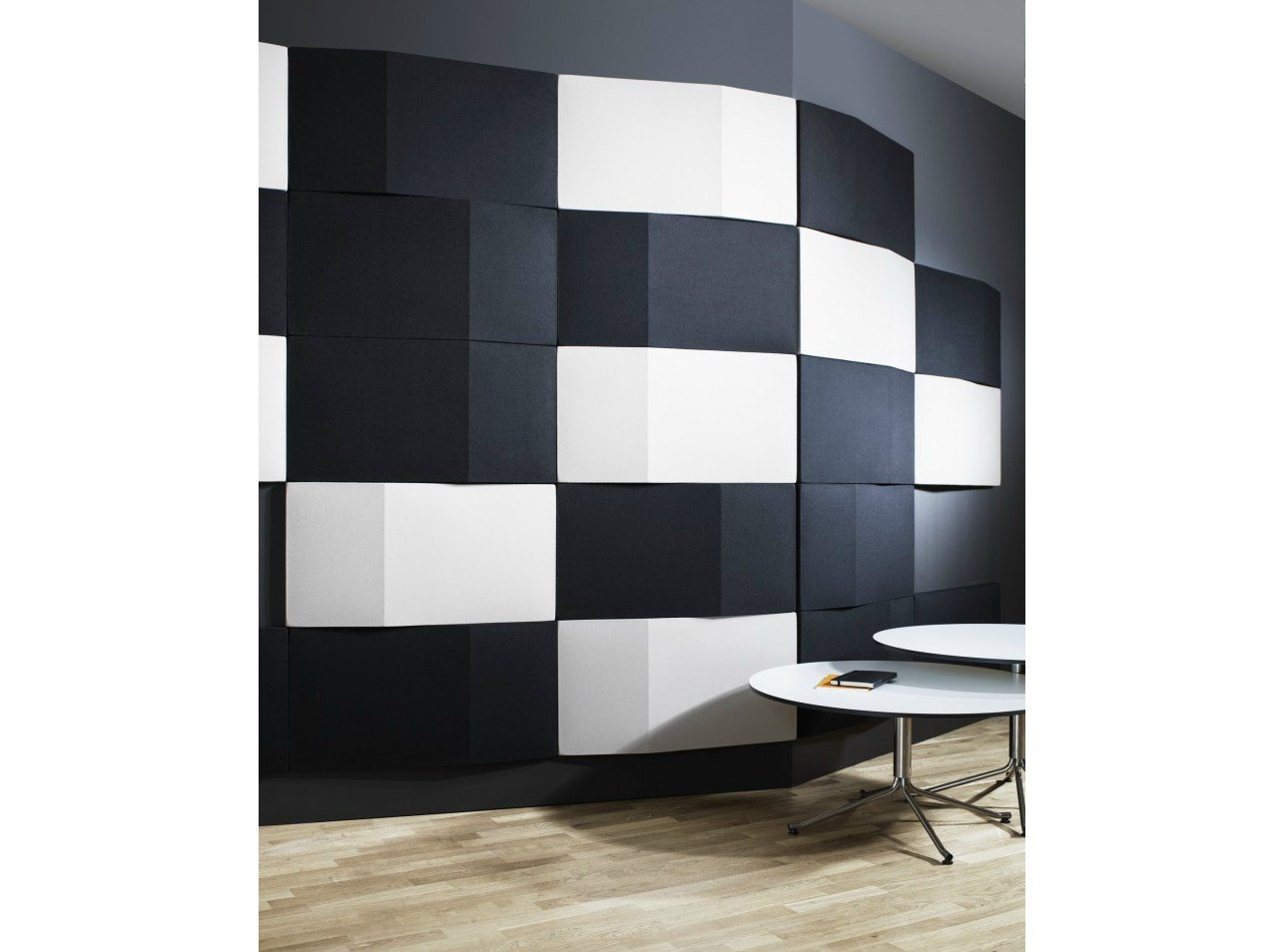 Fabric decorative acoustical panels TRILINE WALL by