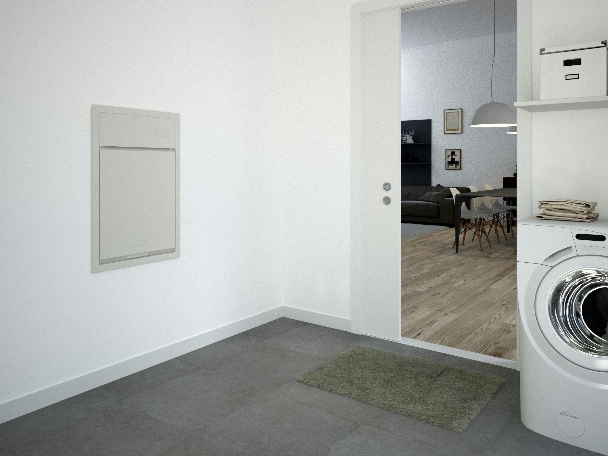 installation d aspiration centralis e qb encastrable by aertecnica. Black Bedroom Furniture Sets. Home Design Ideas