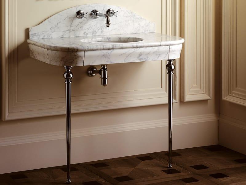 lavabo la console marbre palace by devon devon. Black Bedroom Furniture Sets. Home Design Ideas