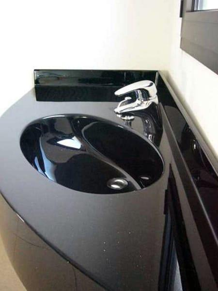 eck waschbecken aus pietraluce mit waschtisch roma by technova. Black Bedroom Furniture Sets. Home Design Ideas