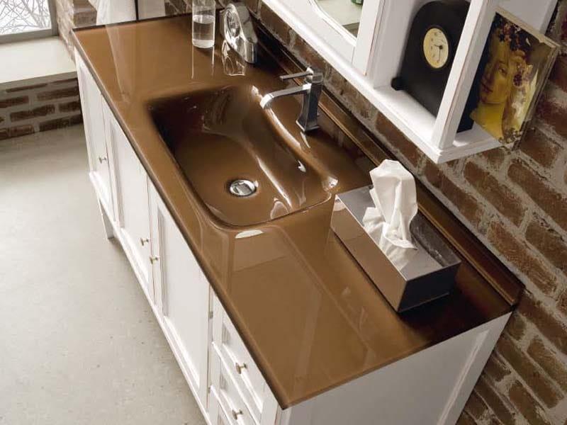 York 4 meuble sous vasque by cerasa for Meuble york