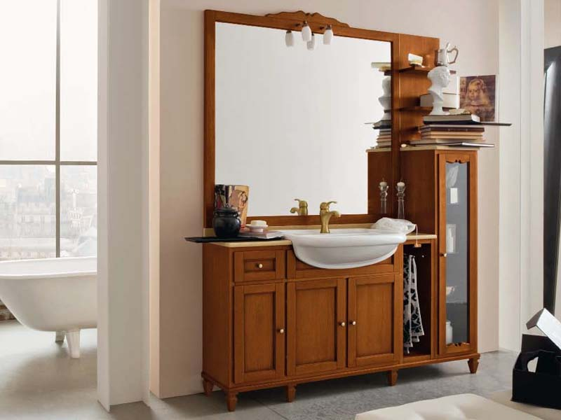 York 5 mueble bajo lavabo by cerasa for Mueble lavabo madera