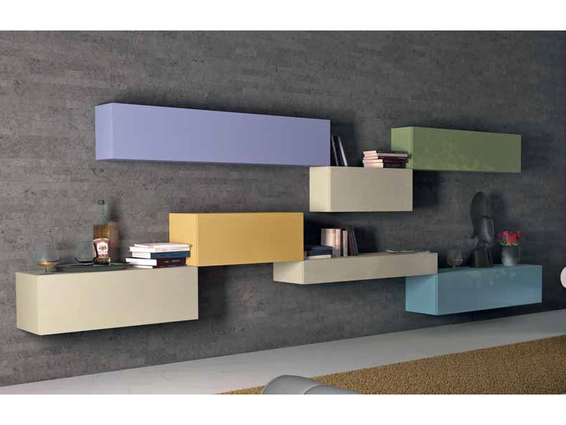 Parete attrezzata componibile laccata parete attrezzata su misura collezione 36e8 by lago - Lago mobili catalogo ...