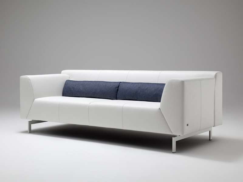 linea leather sofa by rolf benz design cuno frommherz. Black Bedroom Furniture Sets. Home Design Ideas