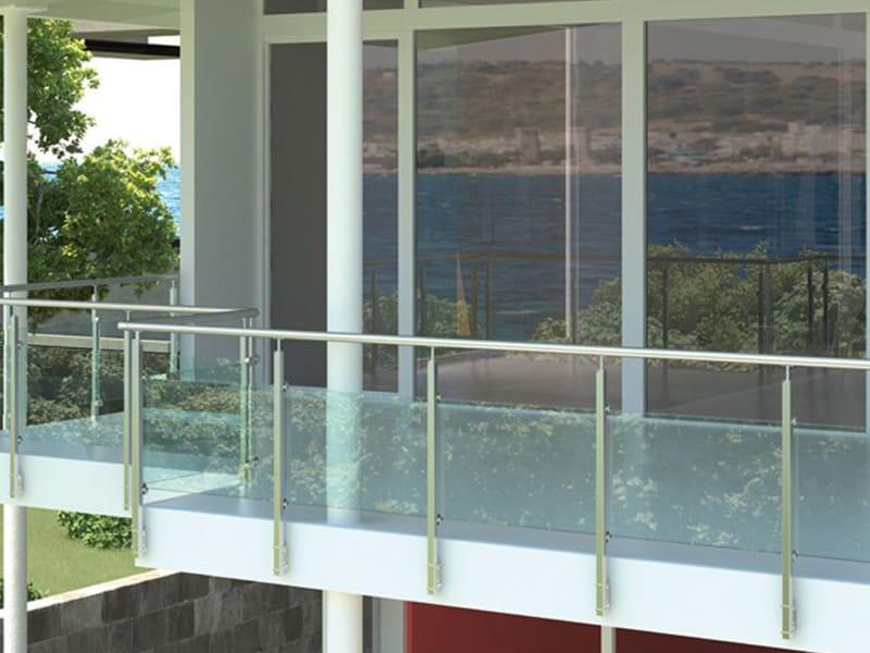 balkongel nder aus edelstahl und glas qube by rintal. Black Bedroom Furniture Sets. Home Design Ideas