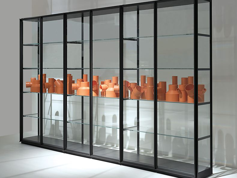 crystal bookcase ex libris by porro design piero lissoni. Black Bedroom Furniture Sets. Home Design Ideas