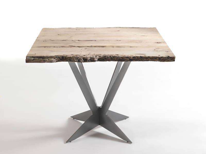 Tavolo quadrato in legno tavolo by riva 1920 design gualtiero marchesi - Tavolo quadrato legno ...