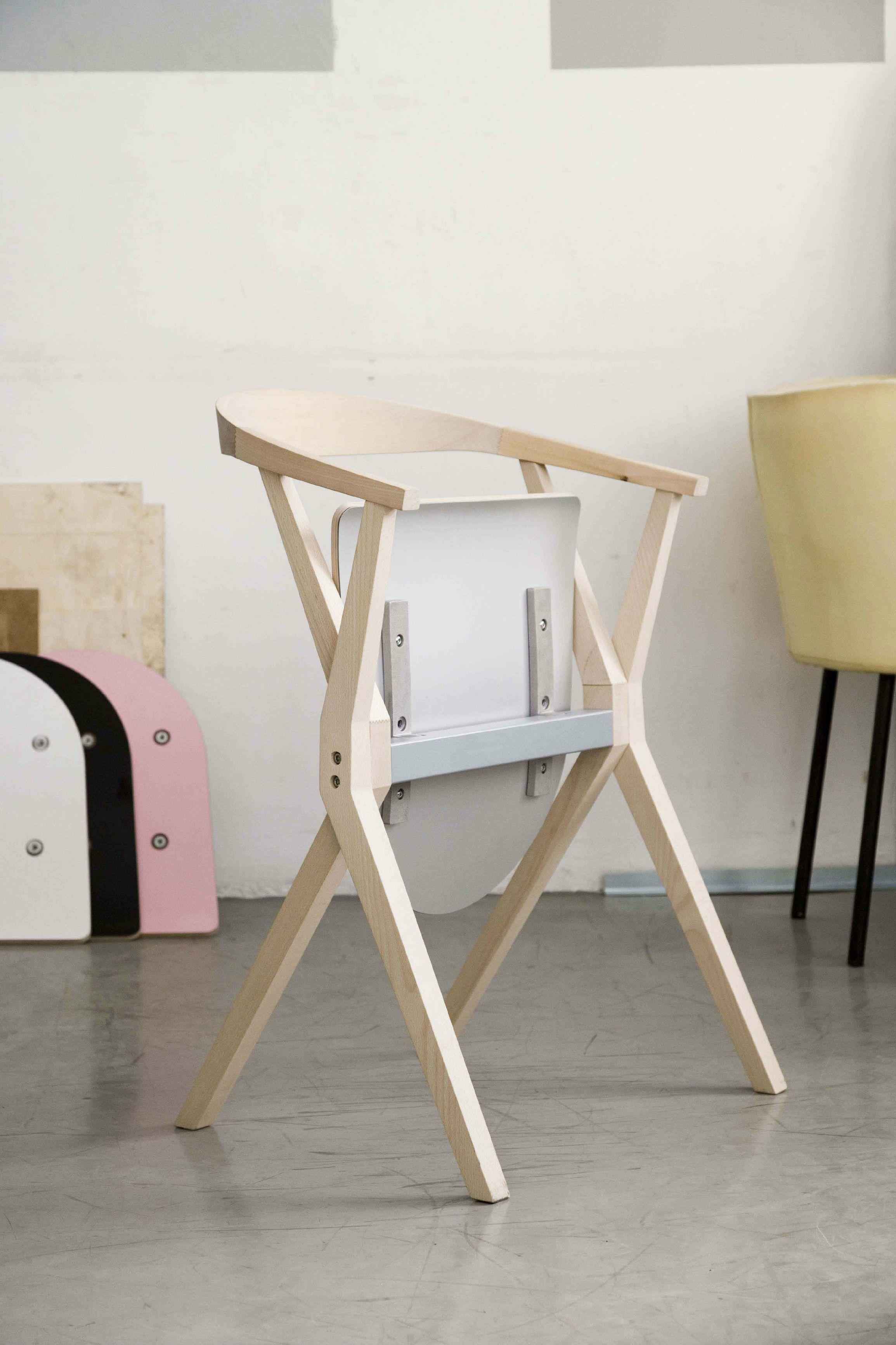 Cadeira dobrável de madeira maciça CHAIR B by BD Barcelona Design  #814A51 2309x3464