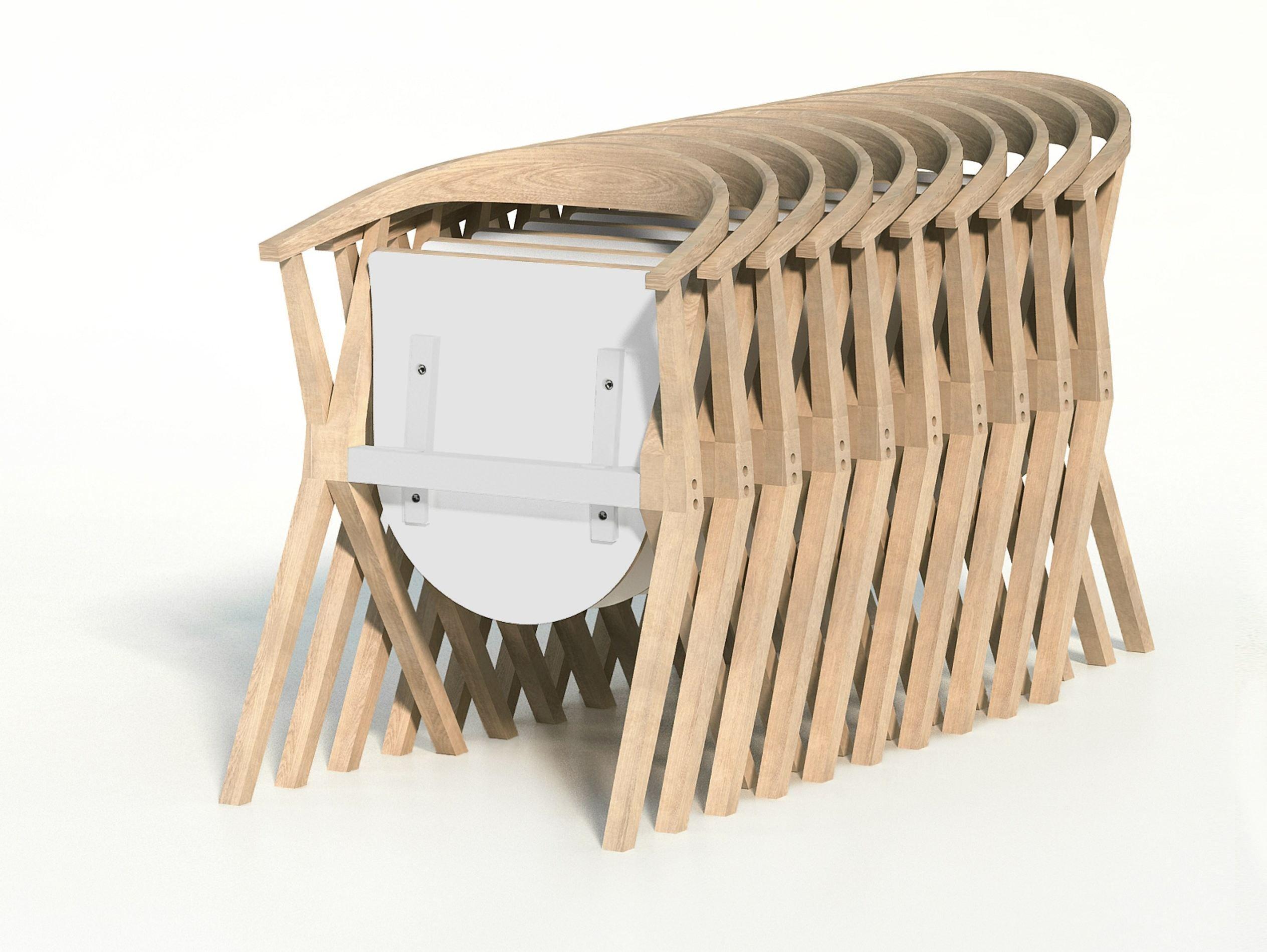 Cadeira dobrável de madeira maciça CHAIR B by BD Barcelona Design  #936838 2528x1899