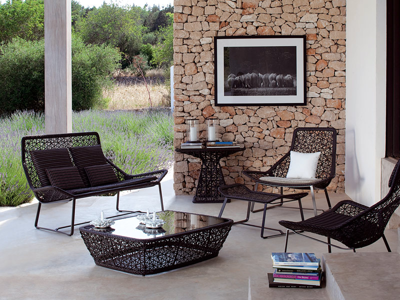 Mesita de jard n baja rectangular colecci n maia by kettal for Kettal muebles jardin