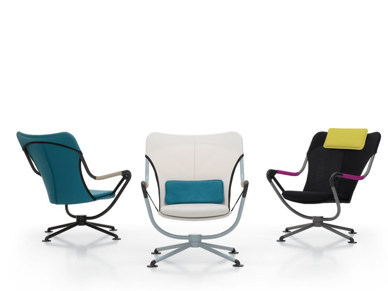 Fauteuil pivot tissu waver by vitra design konstantin grcic for Fauteuil design vitra