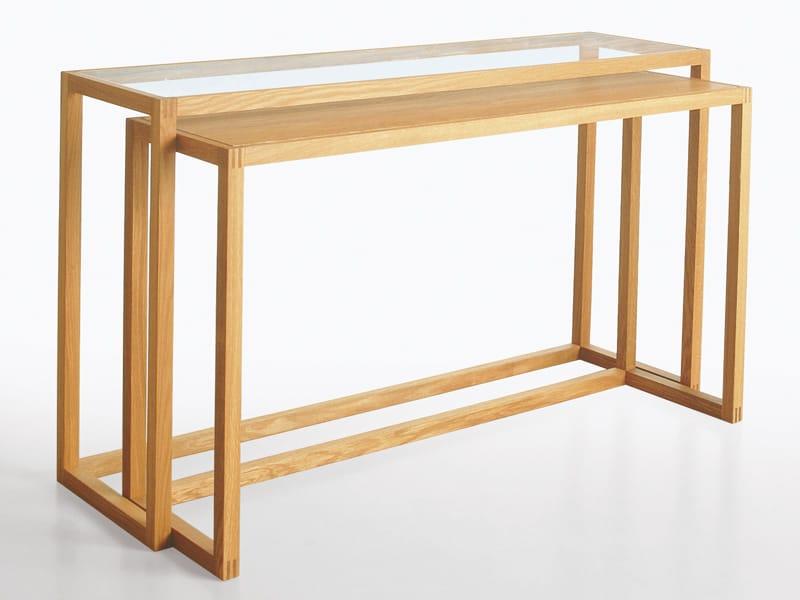 Rechteckiger Konsolentisch aus massivem Holz TRIO
