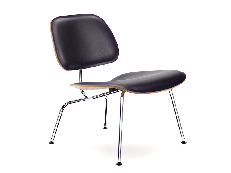 Sedia in pelle lcm leather by vitra design charles ray eames for Sedia design vitra