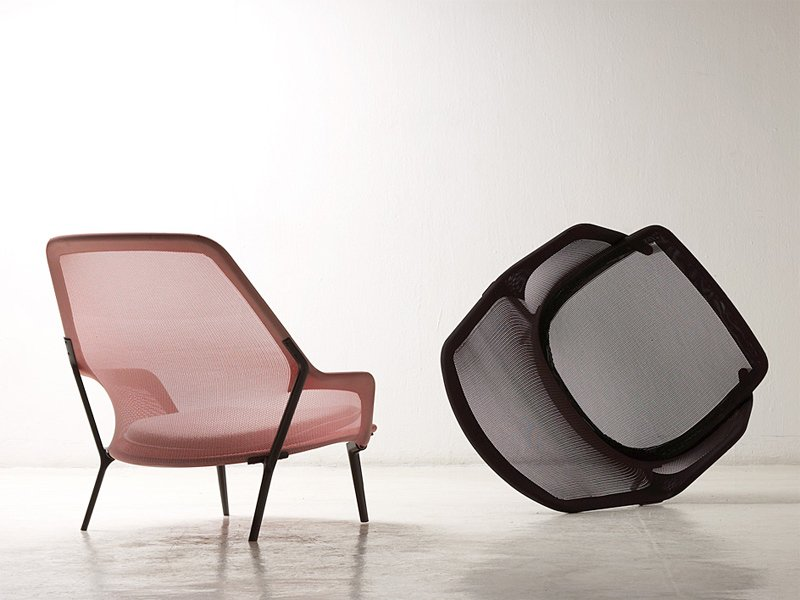 Poltrona in tessuto slow chair by vitra design ronan for Poltrone vitra