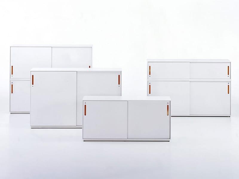 Mobile ufficio basso in mdf con serratura acsu by vitra design antonio citterio toan nguyen - Mobile con serratura ...