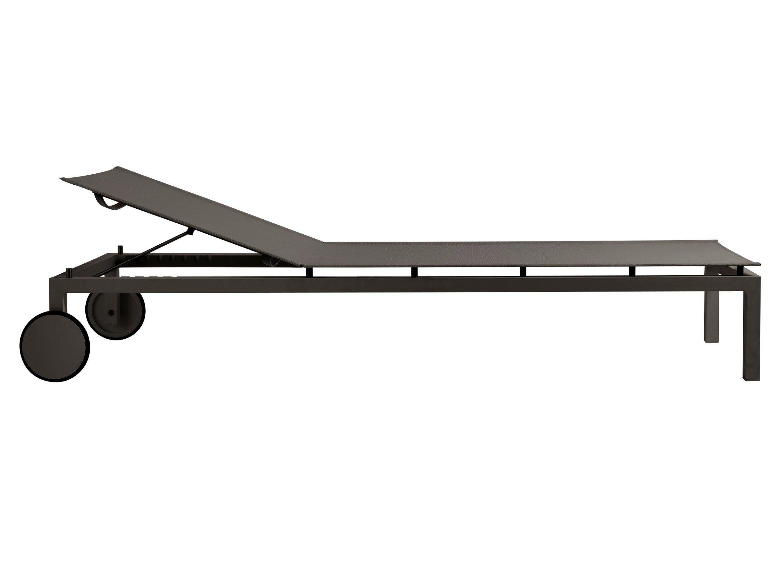 gartenliege mit rollen gartenliege zirena aus metall mit. Black Bedroom Furniture Sets. Home Design Ideas