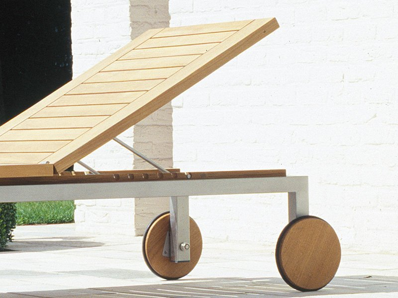 NATAL ALU TEAK Gartenliege by TRIBÙ Design Wim Segers