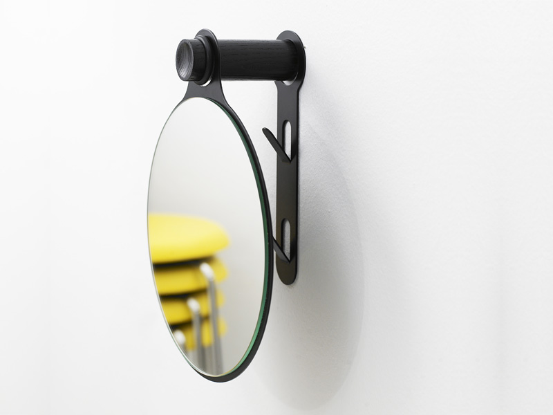 Wall mounted wooden coat rack KNOB by Karl Andersson
