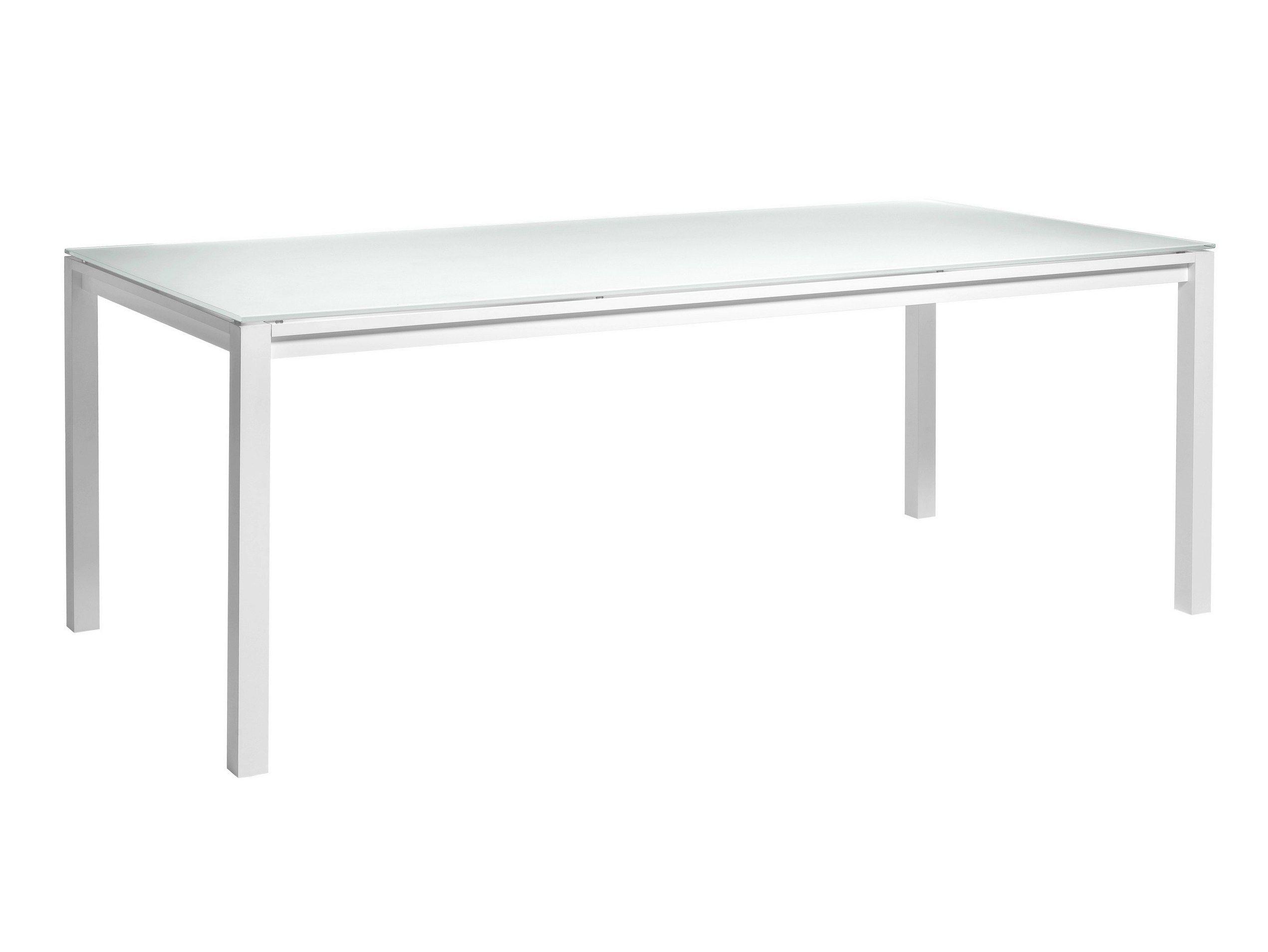Table de jardin rectangulaire en c ramique collection for Table exterieur ceramique