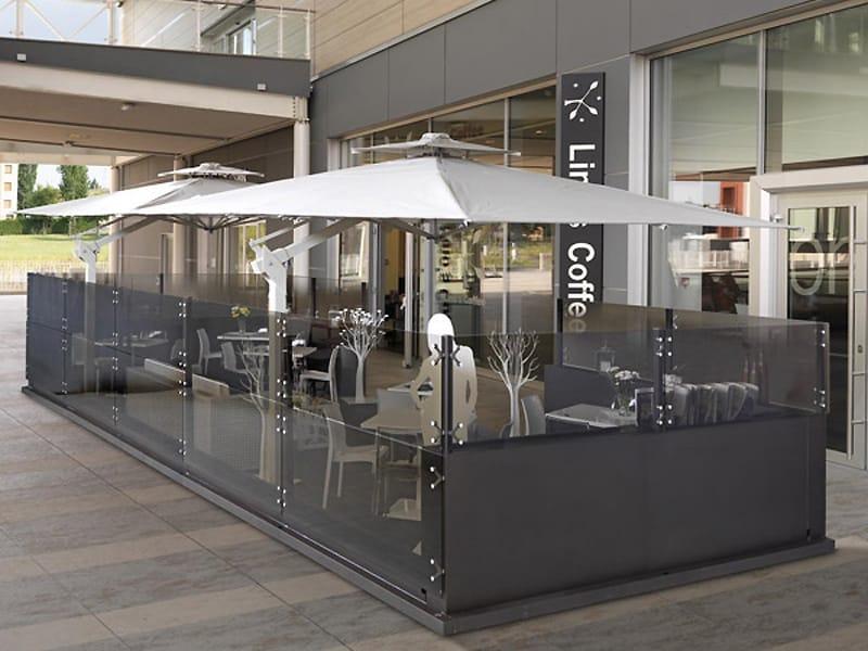 Gazebo in alluminio e vetro dehors by cagis - Gazebi in alluminio per esterni ...