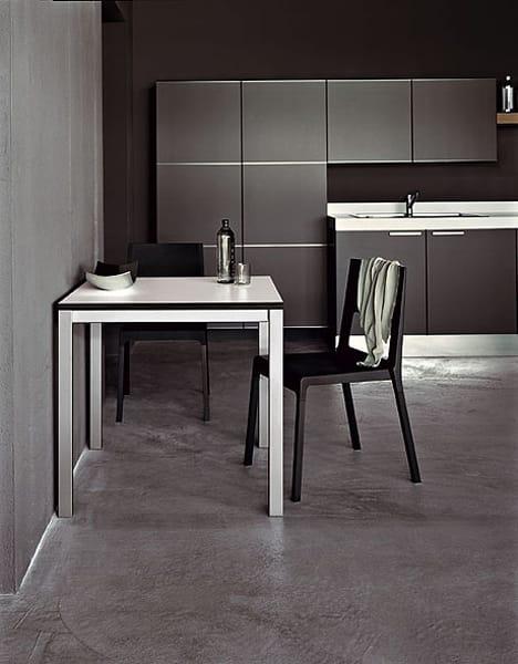 Mesa extensible en laminado easy mesa en acero by for Mesa 80x80 extensible