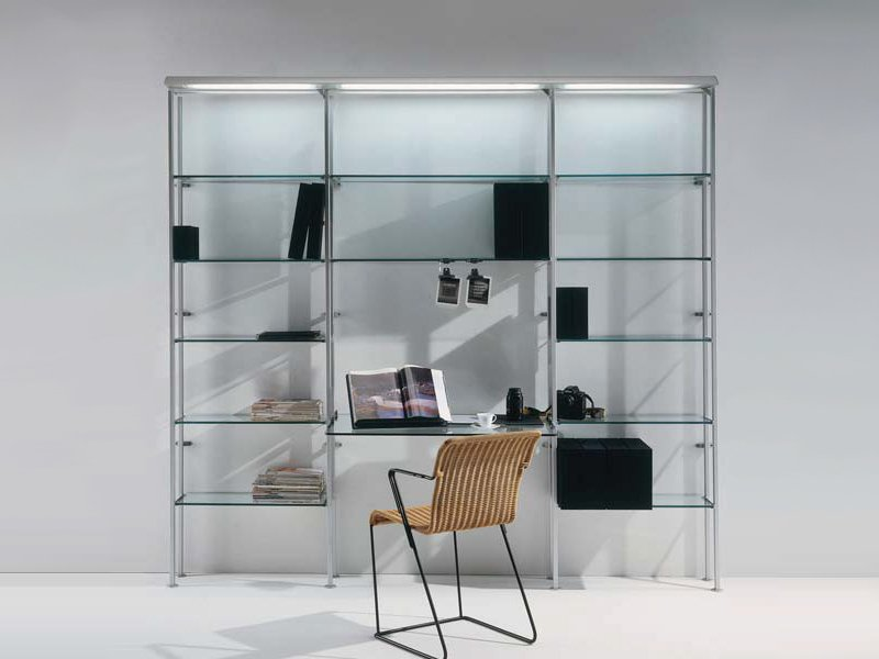 Cristalina tag re avec clairage int gr by bd barcelona for Bibliotheque avec bureau integre