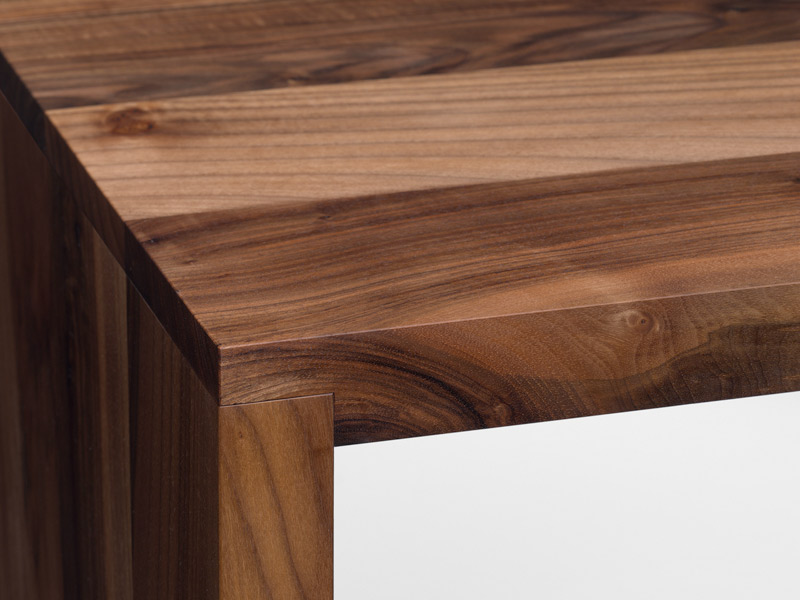 Bureau Design Bois Massif : Bureau / table en bois massif PONTE by e15 design Philipp Mainzer