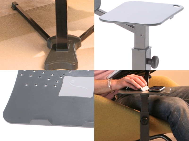 lounge book standard table basse pour ordinateur portable by lounge tek design lounge tek. Black Bedroom Furniture Sets. Home Design Ideas