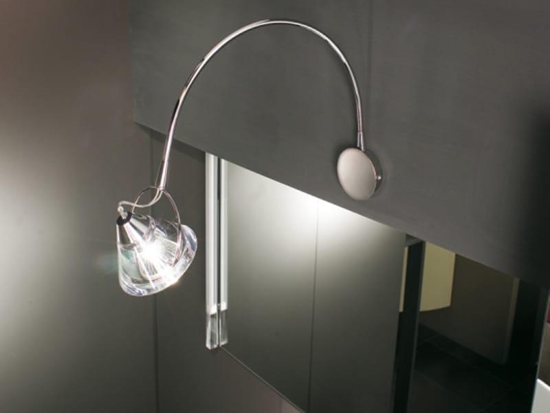 Lampada da parete in cristallo wedge arc by lucente for Faretti da parete