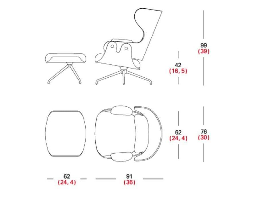 Cad Zeichnung Sessel