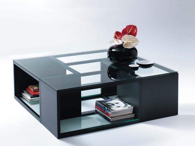 Table basse en bois et verre burguesa by bd barcelona design design oscar tusquets blanca - Table de salon modulable ...