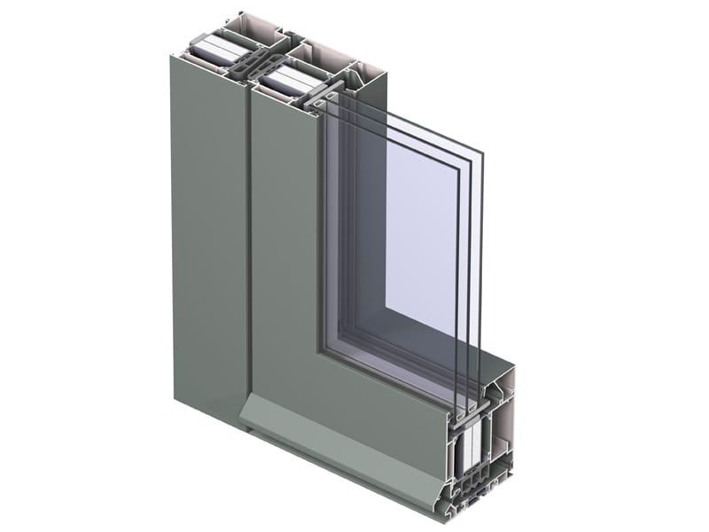 Porte fen tre en aluminium rupture thermique avec triple - Fenetre triple vitrage aluminium ...