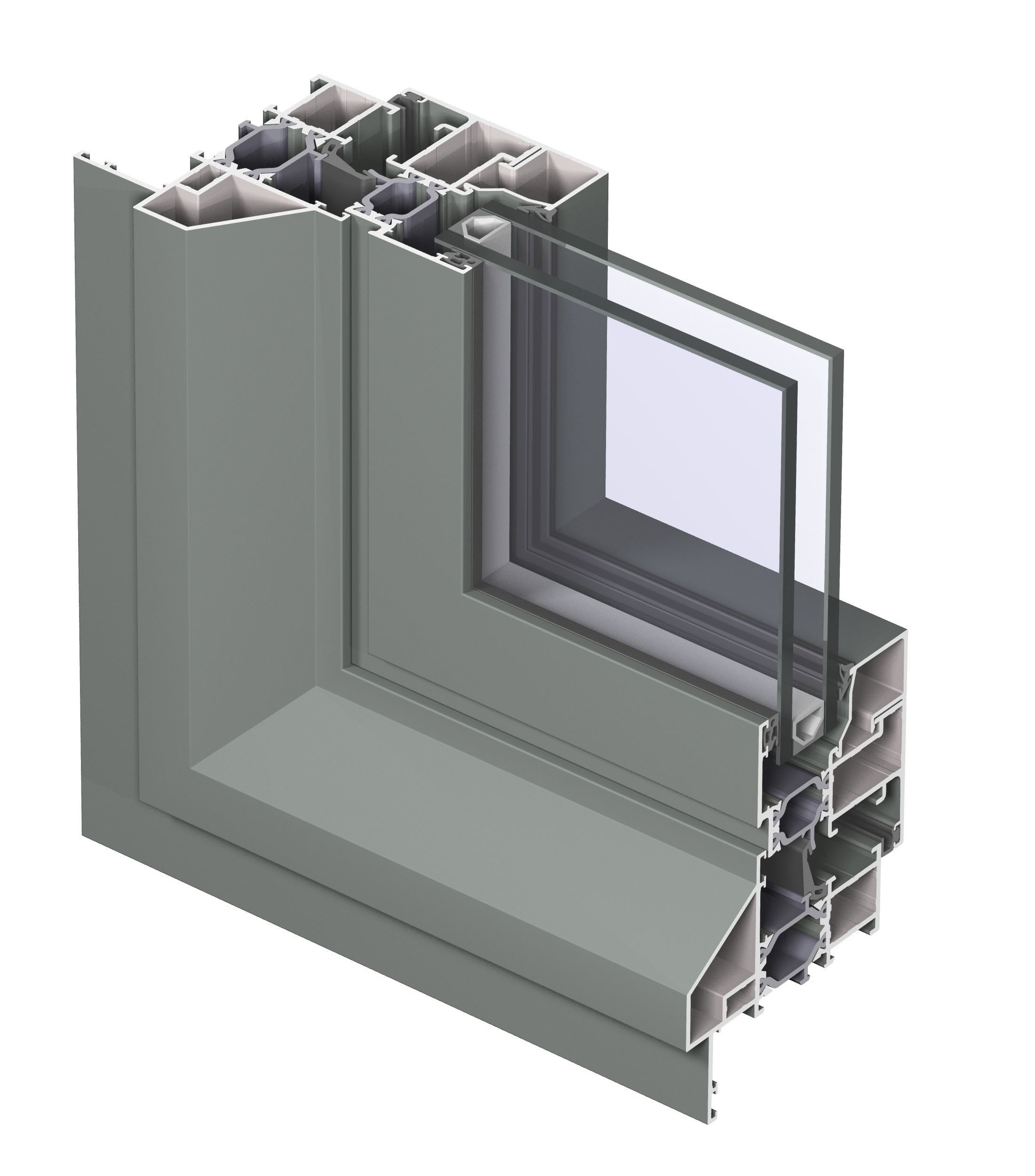 Aluminium thermal break window eco system 50 by reynaers for Thermal windows