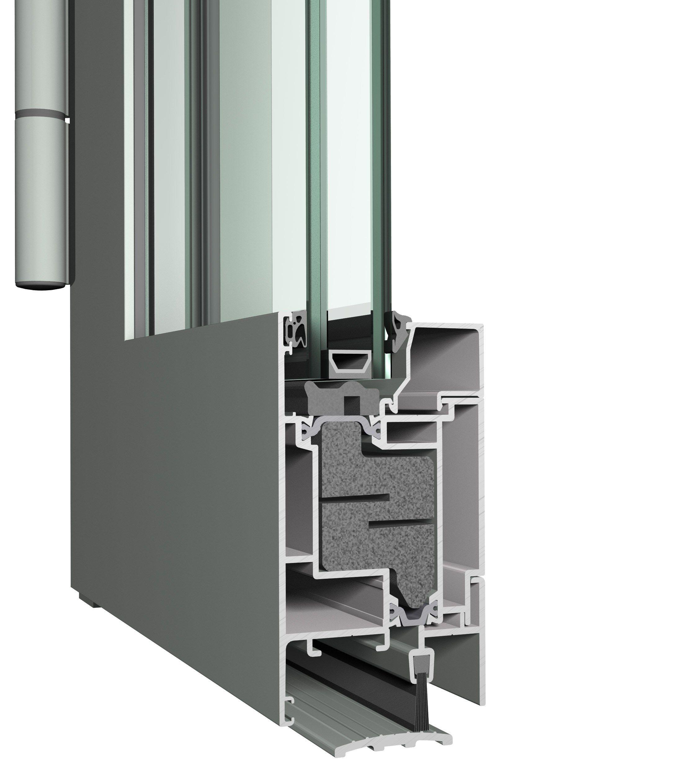 Fenster aus aluminium mit thermischer trennung mit for Fenster aluminium