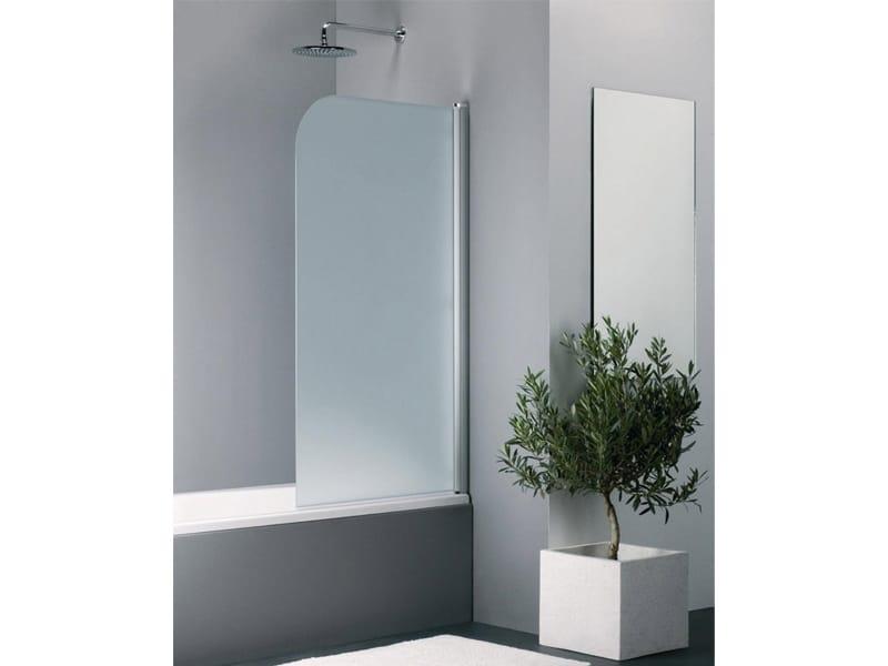 Parete per vasca in vetro elegance ke by provex industrie - Vetro doccia per vasca ...