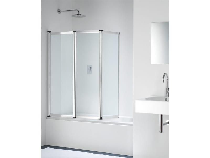 Parete per vasca pieghevole in vetro point pt by provex - Vasca da bagno in vetro ...