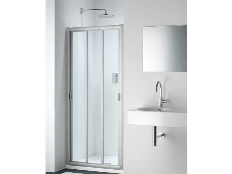 Box doccia in vetro con porte scorrevoli classic fc by - Porta doccia vetro ...