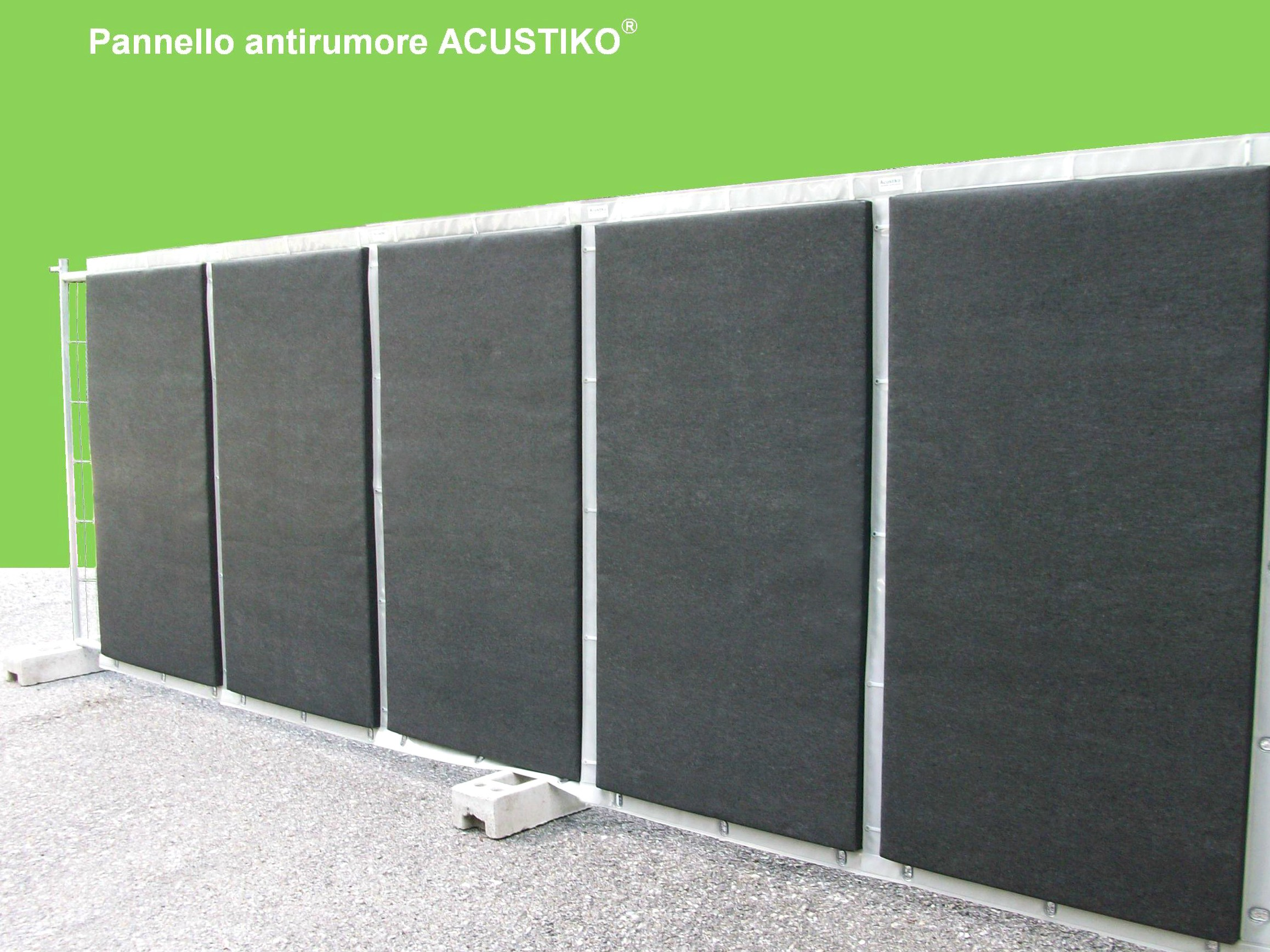 Anti-noise road barrier / Road noise barrier ACUSTIKO® by SILTE