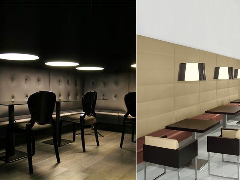 banquette pour bar et restaurant rembourr e modus by pedrali. Black Bedroom Furniture Sets. Home Design Ideas