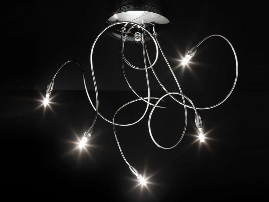 lampadari cromati : Lampada da soffitto in metallo cromato con braccio flessibile FLEX ...
