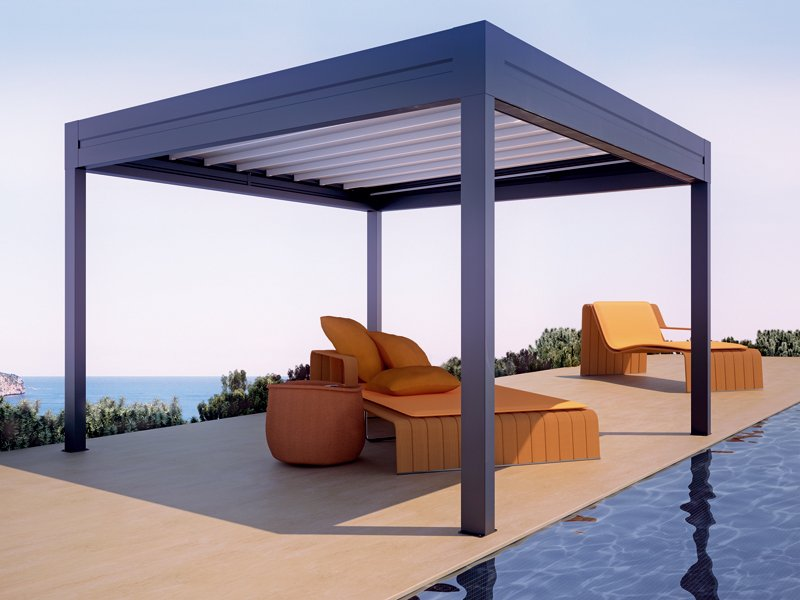 aluminium pergola with sliding cover tecnic reverse by. Black Bedroom Furniture Sets. Home Design Ideas