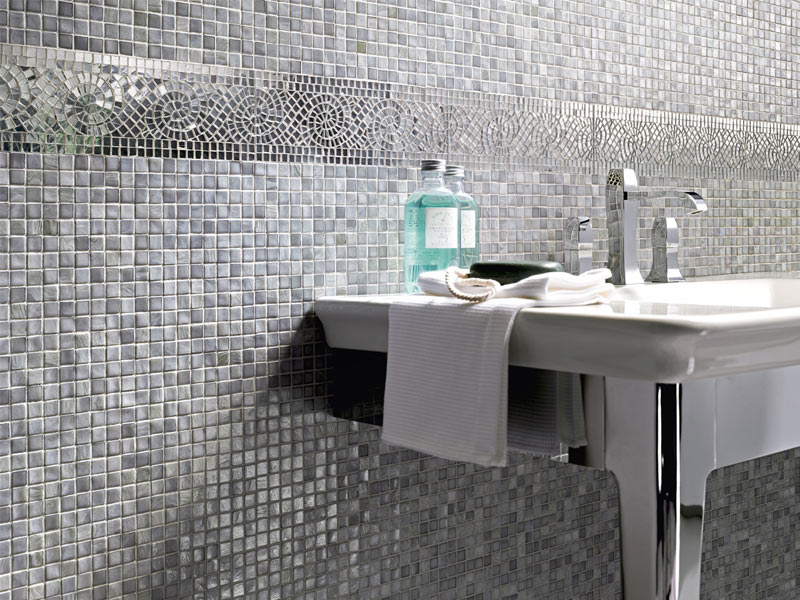 Mosaik natural by sicis - Mosaico bagno leroy merlin ...