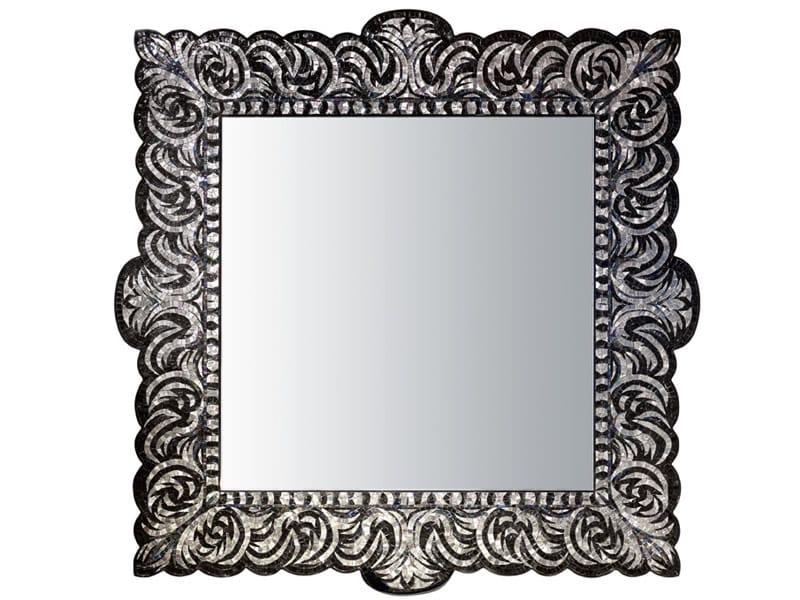 Specchio quadrato con cornice verev platinum collezione for Espejo cuadrado sin marco