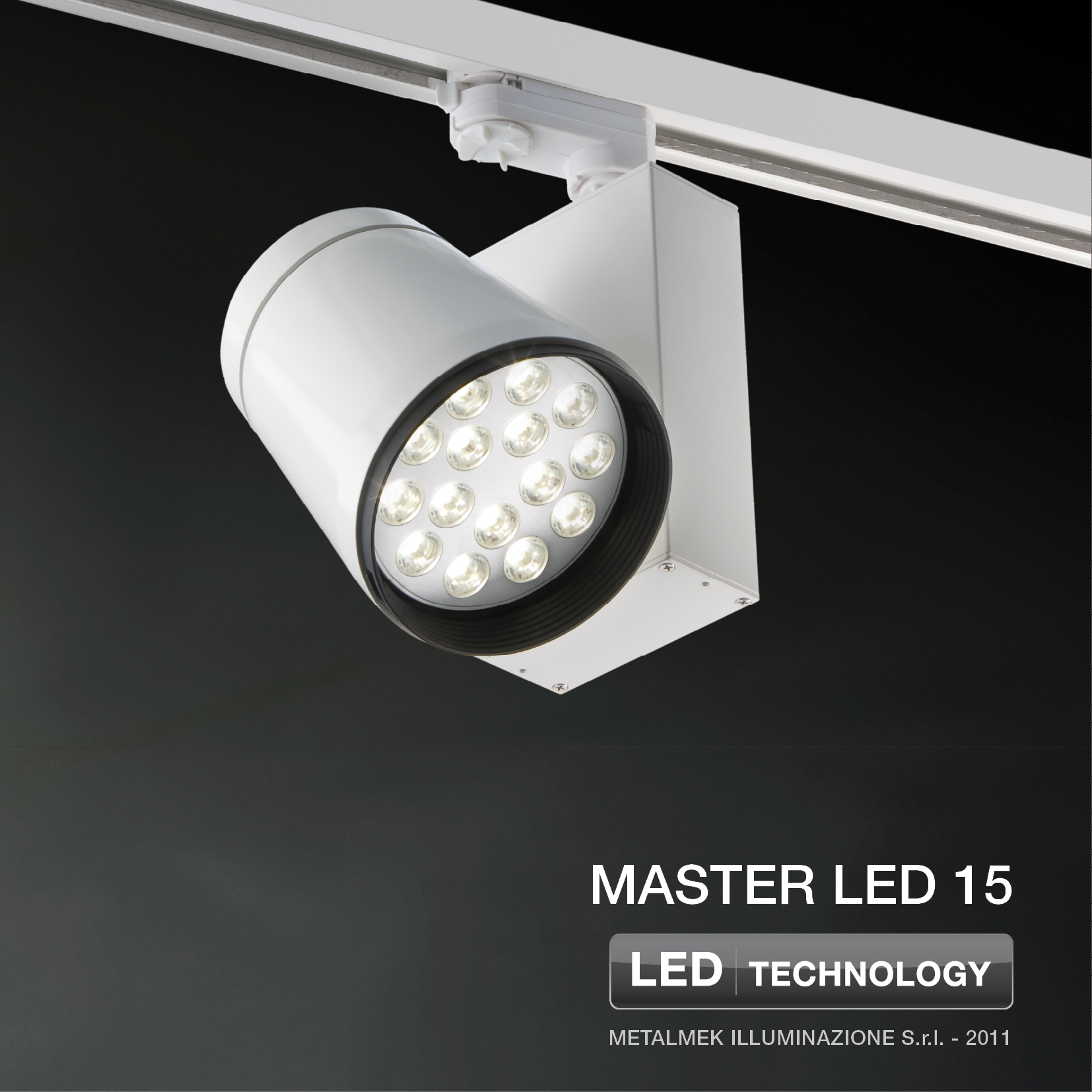 Proiettore a led a testa mobile master led 15 by metalmek for Illuminazione a led