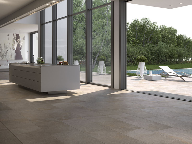 Vitrified stoneware wall floor tiles amazzonia by for Padana ceramiche