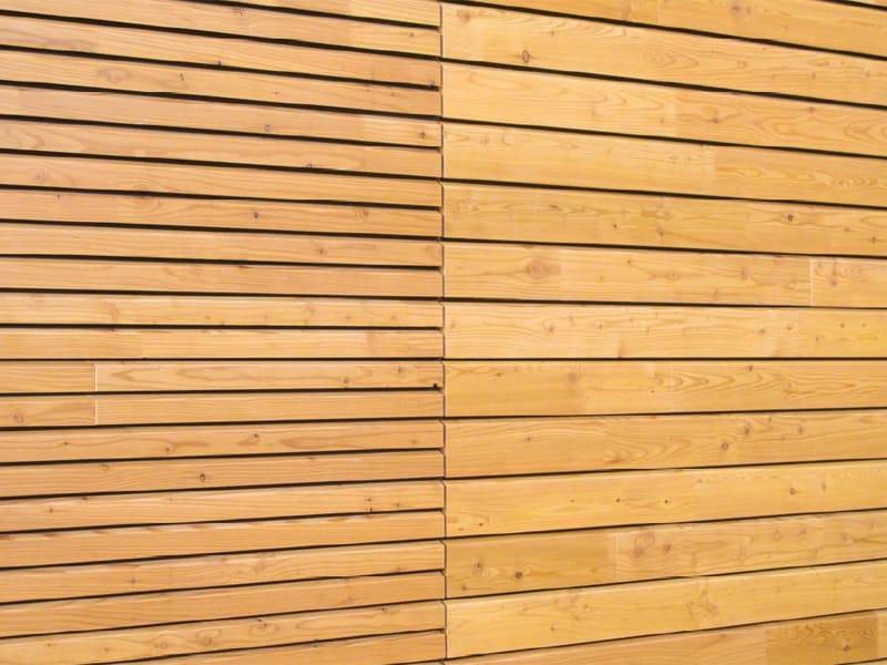 Panel de madera para fachada openlam by simonin for Paneles madera paredes interiores
