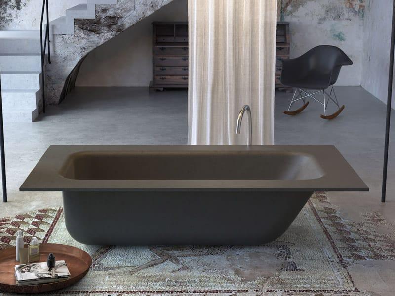 Vasca da bagno centro stanza concrete bath by glass 1989 - Vasca da bagno grigia ...