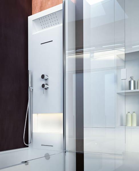 Vasca da bagno con doccia con porta elle door by glass - Porta vasca da bagno ...