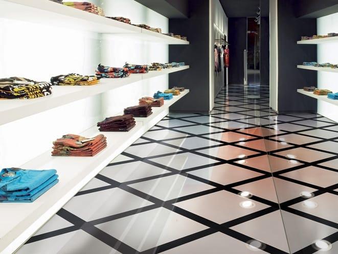 Pavimento rivestimento in gres porcellanato per interni ed for Pavimento bianco e nero