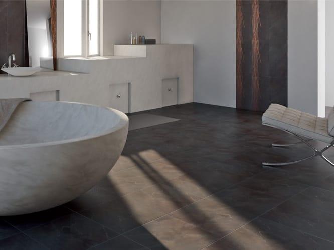 rev tement de sol mur en gr s c rame effet marbre marmi high tech noir st laurent by ariostea. Black Bedroom Furniture Sets. Home Design Ideas